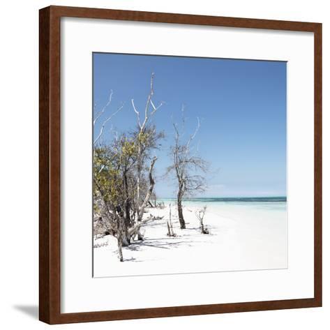 Cuba Fuerte Collection SQ - Sandy Beach Pastel Blue-Philippe Hugonnard-Framed Art Print