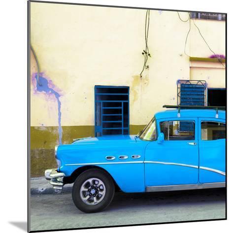 Cuba Fuerte Collection SQ - Havana Classic American Blue Car-Philippe Hugonnard-Mounted Photographic Print