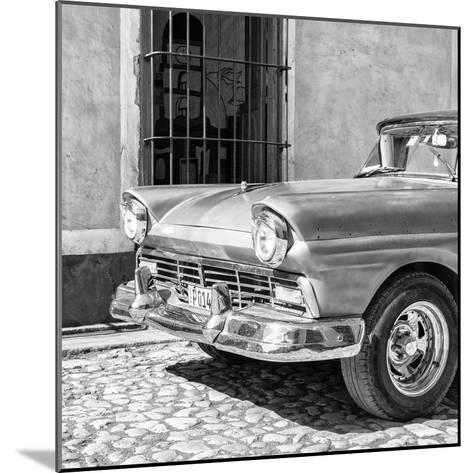 Cuba Fuerte Collection SQ BW- Close-up of American Classic Car-Philippe Hugonnard-Mounted Photographic Print