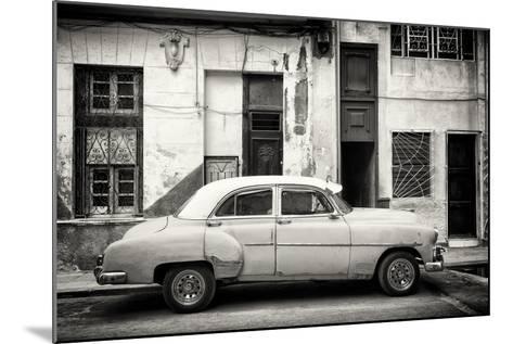 Cuba Fuerte Collection B&W - Classic American Car in Havana Street III-Philippe Hugonnard-Mounted Photographic Print