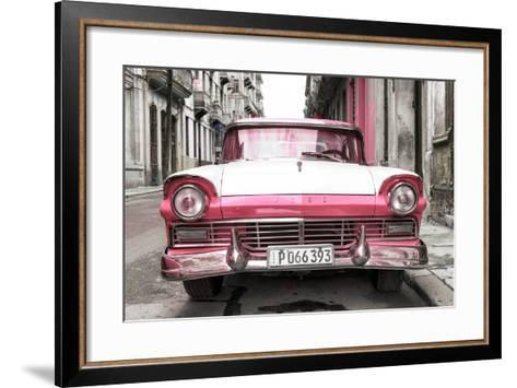 Cuba Fuerte Collection - Old Ford Pink Car-Philippe Hugonnard-Framed Art Print