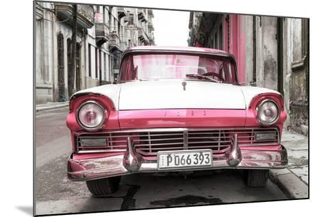 Cuba Fuerte Collection - Old Ford Pink Car-Philippe Hugonnard-Mounted Photographic Print