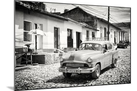 Cuba Fuerte Collection B&W - Cuban Taxi in Trinidad II-Philippe Hugonnard-Mounted Photographic Print