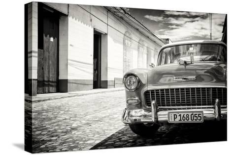 Cuba Fuerte Collection B&W - 1955 Chevy Classic Car-Philippe Hugonnard-Stretched Canvas Print