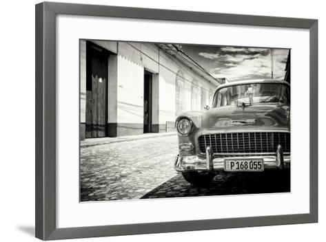 Cuba Fuerte Collection B&W - 1955 Chevy Classic Car-Philippe Hugonnard-Framed Art Print