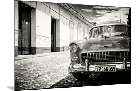 Cuba Fuerte Collection B&W - 1955 Chevy Classic Car-Philippe Hugonnard-Mounted Photographic Print