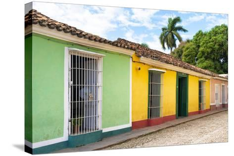 Cuba Fuerte Collection - Colorful Street Scene in Trinidad II-Philippe Hugonnard-Stretched Canvas Print