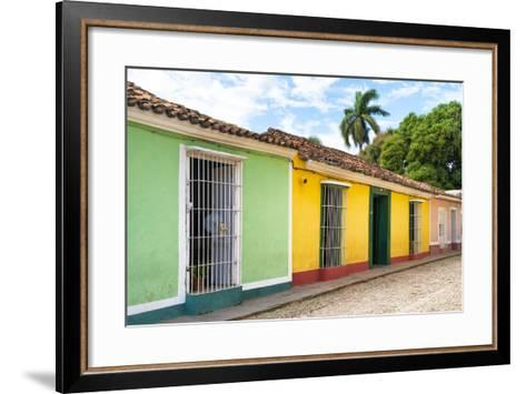Cuba Fuerte Collection - Colorful Street Scene in Trinidad II-Philippe Hugonnard-Framed Art Print