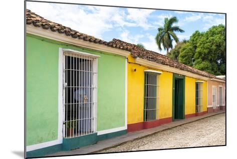 Cuba Fuerte Collection - Colorful Street Scene in Trinidad II-Philippe Hugonnard-Mounted Photographic Print