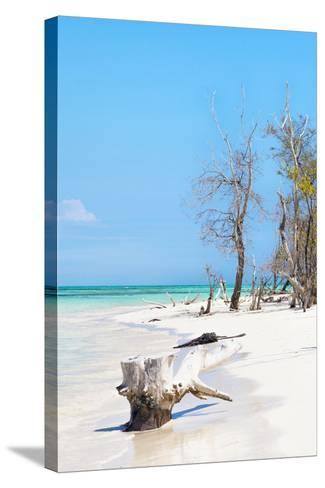 Cuba Fuerte Collection - White Sand Beach II-Philippe Hugonnard-Stretched Canvas Print