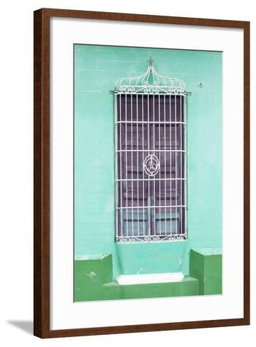 Cuba Fuerte Collection - Colorful Cuban Window IV-Philippe Hugonnard-Framed Art Print