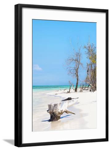 Cuba Fuerte Collection - White Sand Beach II-Philippe Hugonnard-Framed Art Print