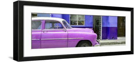 Cuba Fuerte Collection Panoramic - Vintage Hot Pink Car of Havana-Philippe Hugonnard-Framed Art Print
