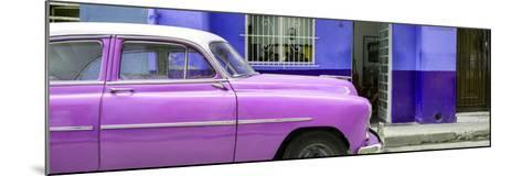 Cuba Fuerte Collection Panoramic - Vintage Hot Pink Car of Havana-Philippe Hugonnard-Mounted Photographic Print