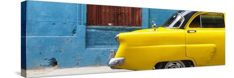 Cuba Fuerte Collection Panoramic - Close-up of Yellow Taxi of Havana II-Philippe Hugonnard-Stretched Canvas Print