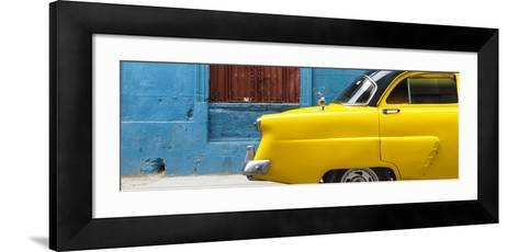 Cuba Fuerte Collection Panoramic - Close-up of Yellow Taxi of Havana II-Philippe Hugonnard-Framed Art Print