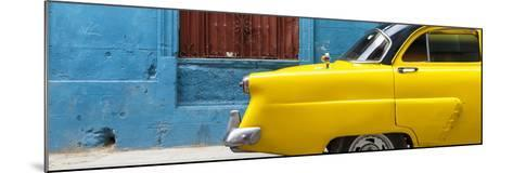 Cuba Fuerte Collection Panoramic - Close-up of Yellow Taxi of Havana II-Philippe Hugonnard-Mounted Photographic Print