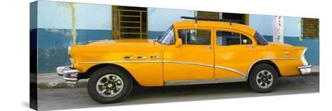 Cuba Fuerte Collection Panoramic - Havana Classic American Orange Car-Philippe Hugonnard-Stretched Canvas Print