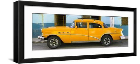 Cuba Fuerte Collection Panoramic - Havana Classic American Orange Car-Philippe Hugonnard-Framed Art Print