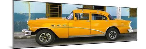 Cuba Fuerte Collection Panoramic - Havana Classic American Orange Car-Philippe Hugonnard-Mounted Photographic Print