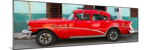 Cuba Fuerte Collection Panoramic - Havana Classic American Red Car-Philippe Hugonnard-Mounted Photographic Print