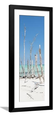 Cuba Fuerte Collection Panoramic - Wild White Sand Beach-Philippe Hugonnard-Framed Art Print