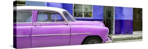 Cuba Fuerte Collection Panoramic - Vintage Hot Pink Car of Havana-Philippe Hugonnard-Stretched Canvas Print