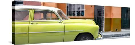 Cuba Fuerte Collection Panoramic - Vintage Lime Green Car of Havana-Philippe Hugonnard-Stretched Canvas Print