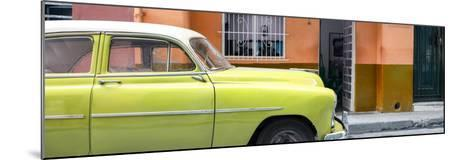 Cuba Fuerte Collection Panoramic - Vintage Lime Green Car of Havana-Philippe Hugonnard-Mounted Photographic Print