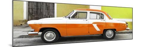 Cuba Fuerte Collection Panoramic - American Classic Car White and Orange-Philippe Hugonnard-Mounted Photographic Print