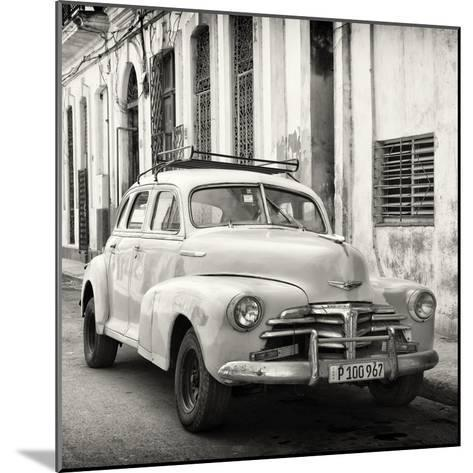 Cuba Fuerte Collection SQ BW - Old Chevrolet in Havana-Philippe Hugonnard-Mounted Photographic Print