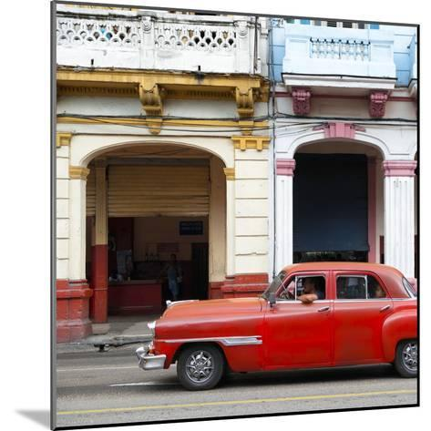 Cuba Fuerte Collection SQ - Havana Red Car-Philippe Hugonnard-Mounted Photographic Print