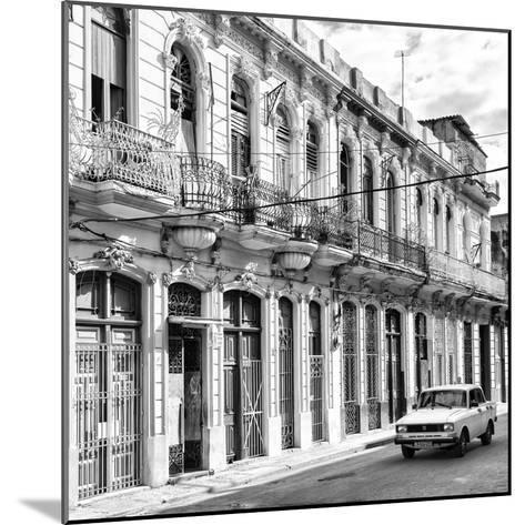 Cuba Fuerte Collection SQ BW - Cuban Facades in Havana-Philippe Hugonnard-Mounted Photographic Print