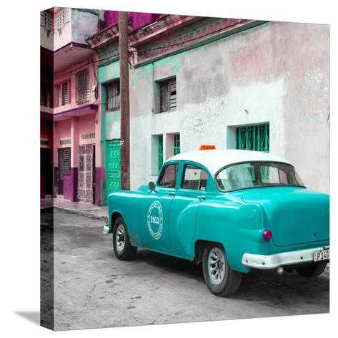 Cuba Fuerte Collection SQ - Turquoise Taxi Pontiac 1953-Philippe Hugonnard-Stretched Canvas Print