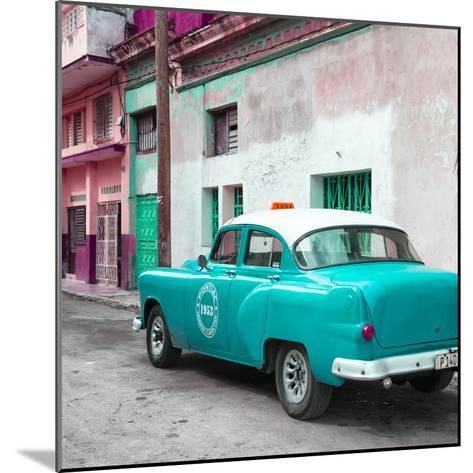 Cuba Fuerte Collection SQ - Turquoise Taxi Pontiac 1953-Philippe Hugonnard-Mounted Photographic Print