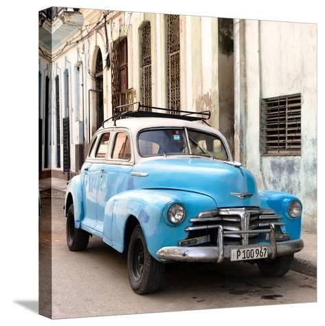 Cuba Fuerte Collection SQ - Old Blue Chevrolet in Havana-Philippe Hugonnard-Stretched Canvas Print