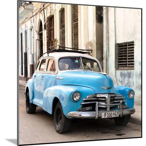 Cuba Fuerte Collection SQ - Old Blue Chevrolet in Havana-Philippe Hugonnard-Mounted Photographic Print