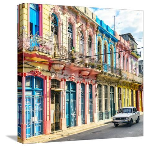 Cuba Fuerte Collection SQ - Colorful Facades in Havana-Philippe Hugonnard-Stretched Canvas Print