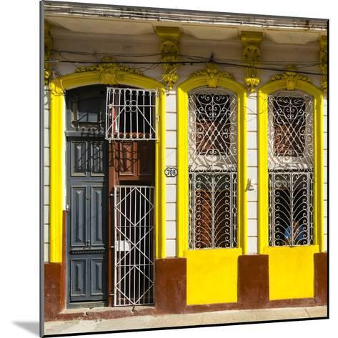 Cuba Fuerte Collection SQ - 708 Street Yellow Facade-Philippe Hugonnard-Mounted Photographic Print