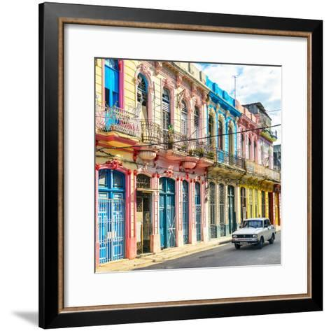 Cuba Fuerte Collection SQ - Colorful Facades in Havana-Philippe Hugonnard-Framed Art Print