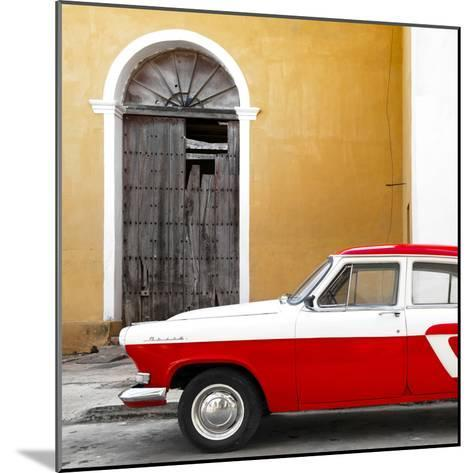 Cuba Fuerte Collection SQ - American Classic Car White and Red-Philippe Hugonnard-Mounted Photographic Print