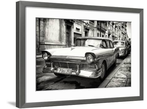 Cuba Fuerte Collection B&W - Vintage Cuban Ford III-Philippe Hugonnard-Framed Art Print
