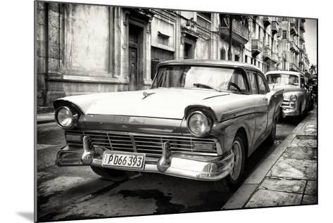Cuba Fuerte Collection B&W - Vintage Cuban Ford III-Philippe Hugonnard-Mounted Photographic Print