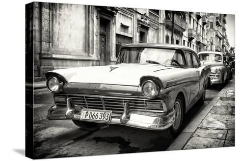 Cuba Fuerte Collection B&W - Vintage Cuban Ford III-Philippe Hugonnard-Stretched Canvas Print