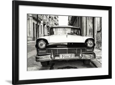 Cuba Fuerte Collection B&W - Vintage Cuban Ford-Philippe Hugonnard-Framed Art Print