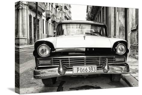 Cuba Fuerte Collection B&W - Vintage Cuban Ford-Philippe Hugonnard-Stretched Canvas Print