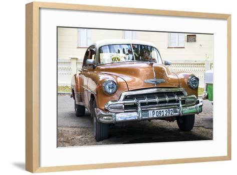 Cuba Fuerte Collection - Brown Taxi-Philippe Hugonnard-Framed Art Print