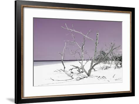 Cuba Fuerte Collection - Tropical Beach Nature - Pastel Purple-Philippe Hugonnard-Framed Art Print