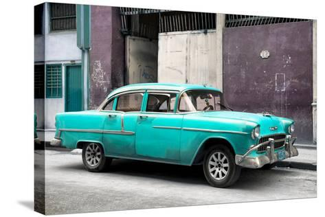 Cuba Fuerte Collection - Turquoise Chevy-Philippe Hugonnard-Stretched Canvas Print