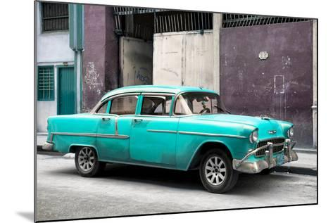 Cuba Fuerte Collection - Turquoise Chevy-Philippe Hugonnard-Mounted Photographic Print
